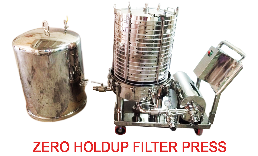 zero hold up filter press